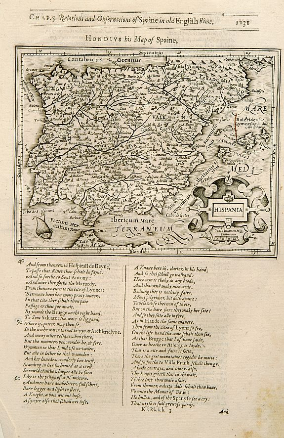HONDIUS, J. / PURCHAS, S. -  Hispania.