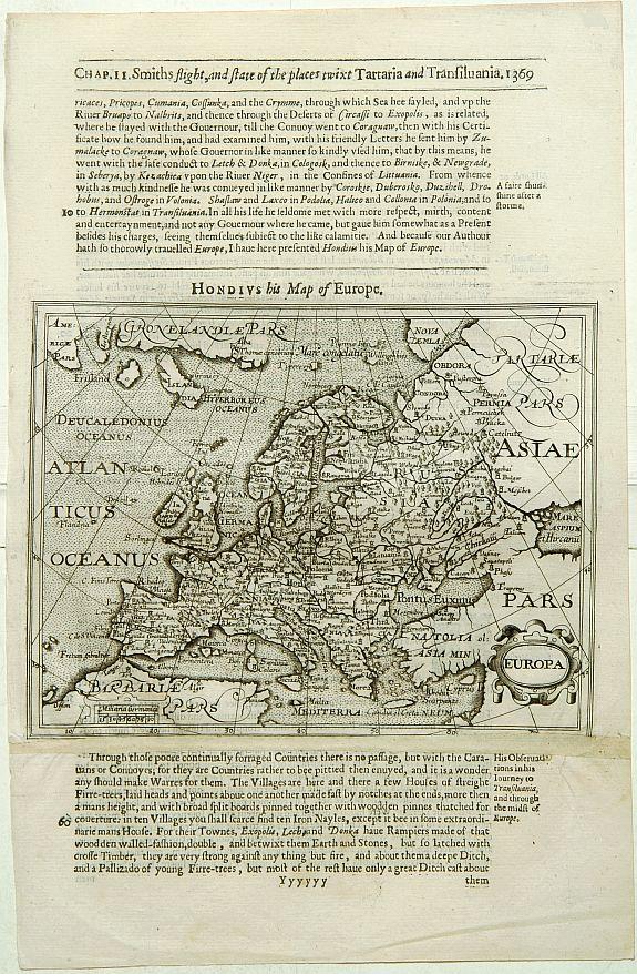 HONDIUS, J. / PURCHAS, S. -  Europa.