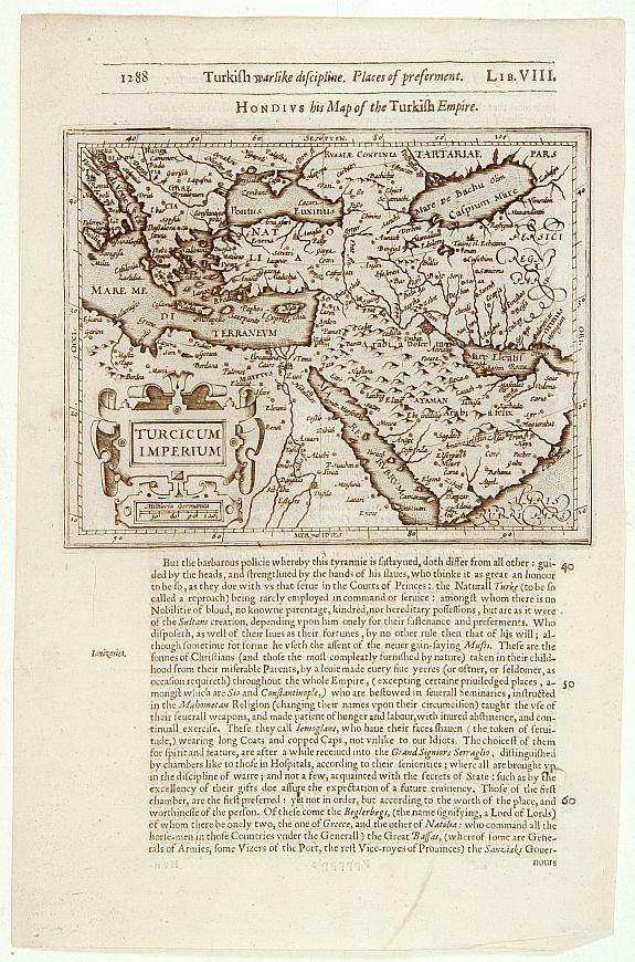 HONDIUS,J./ PURCHAS,S. -  Turcicum Imperium.