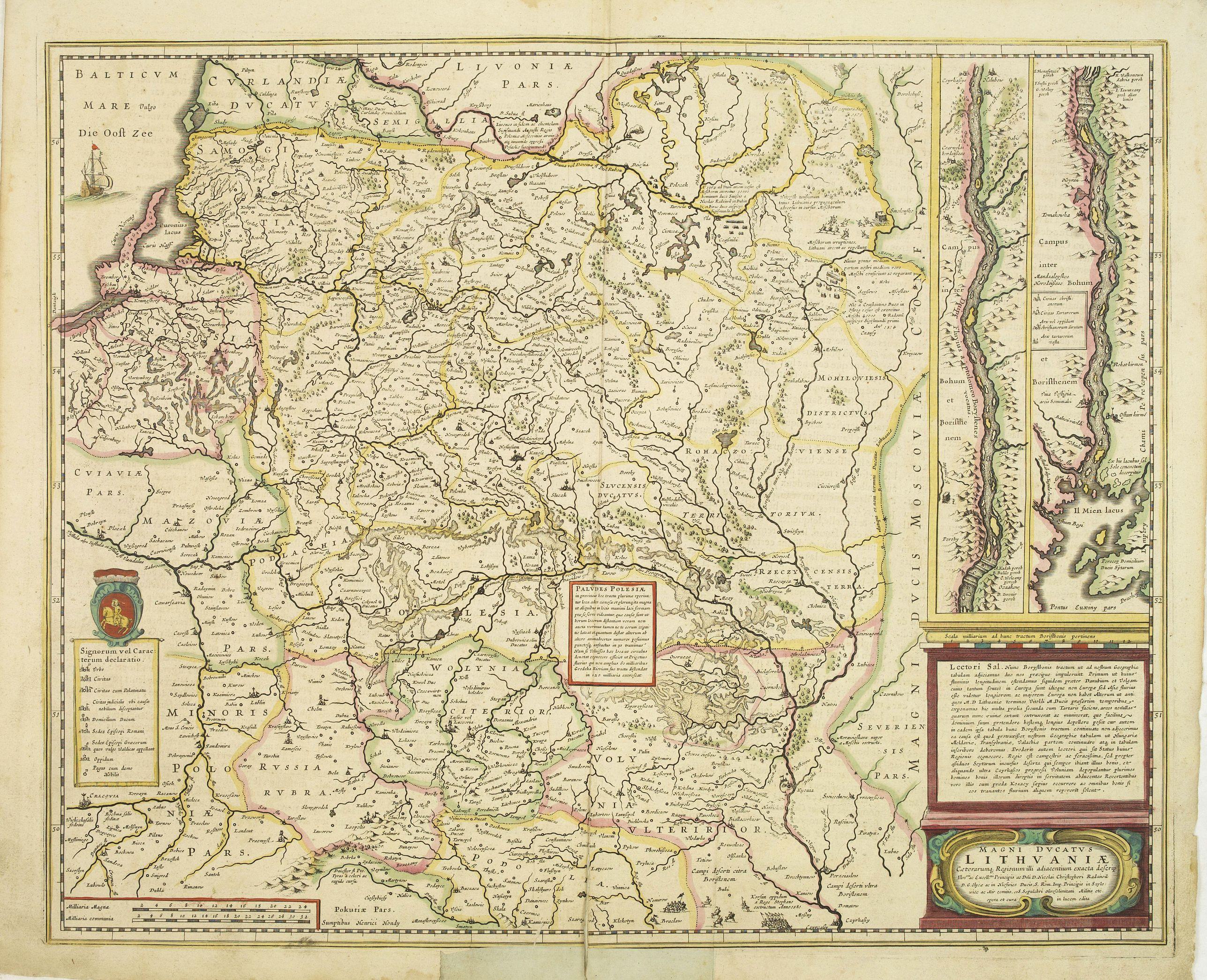 HONDIUS, H. -  Magni Ducatus Lithuaniae Caetrarumq Regionum illi Adiacentium exacta decrip. . .