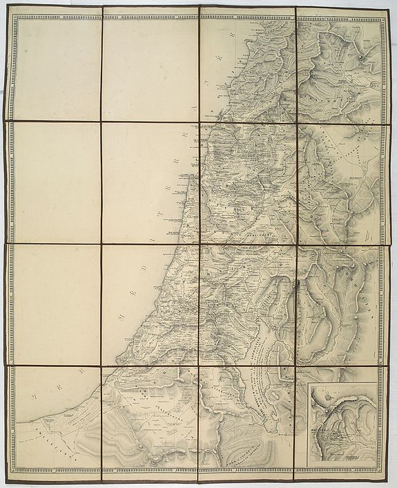 VAN DER MAELEN, Ph.,  No title, folding map of Palistine., antique map, old maps