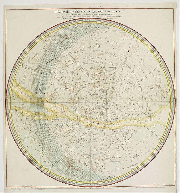 VAUGONDY, R.DE. -  Hemisphere Celeste Antarctique ou Austral..