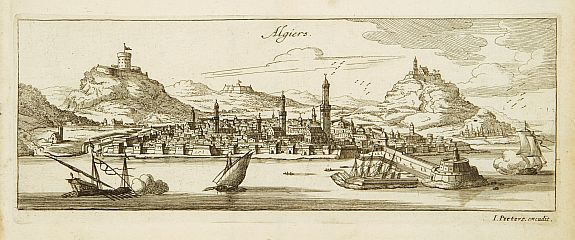 PEETERS,J.,  Algiers. (Panoramic view of Algiers), antique map, old maps