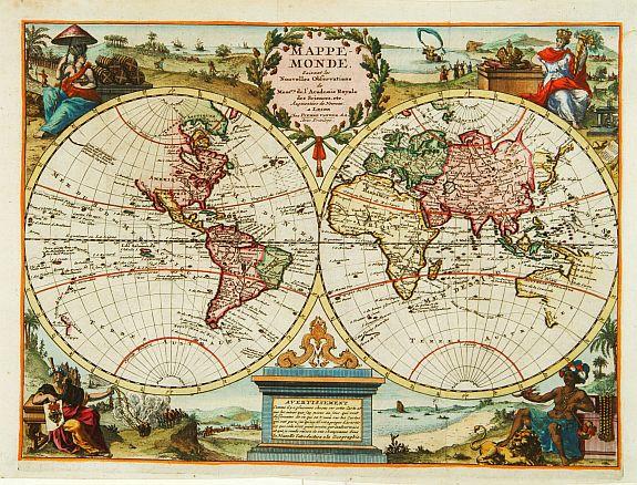 VAN DER AA,P. -  Mappe Monde.