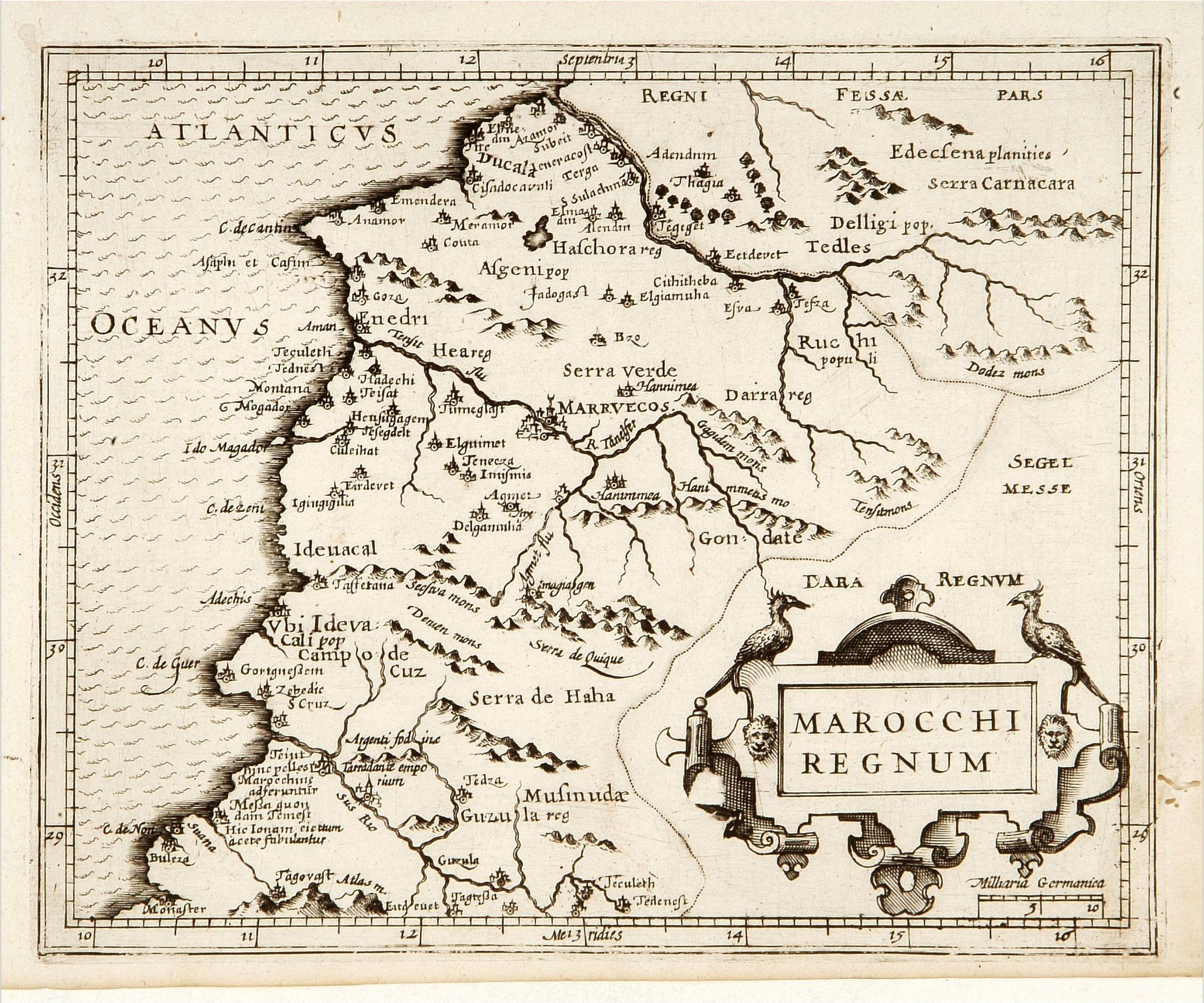 HONDIUS, J. -  Marocchi Regnum.