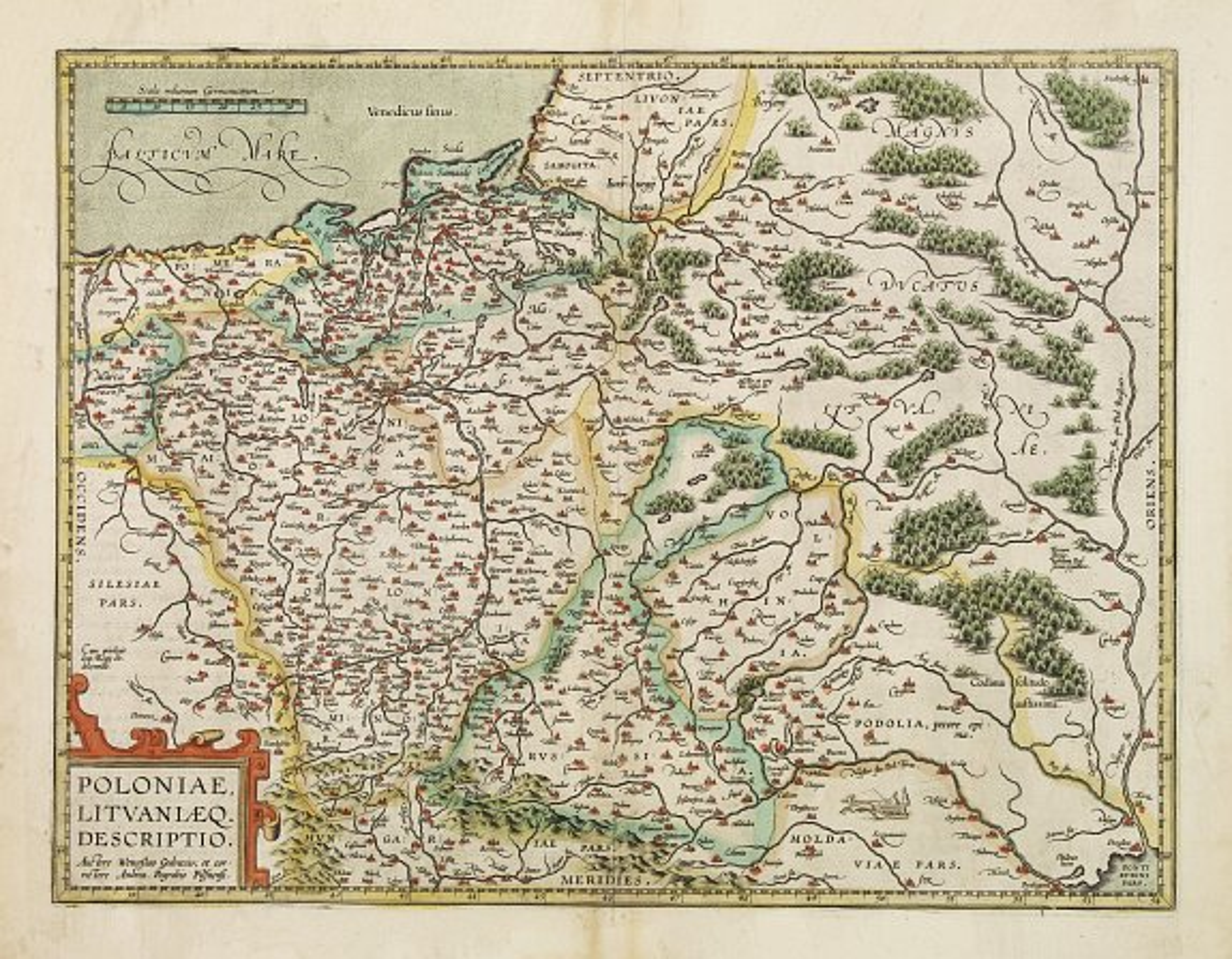ORTELIUS, A. -  Poloniae, Lituaniaeq descriptio.