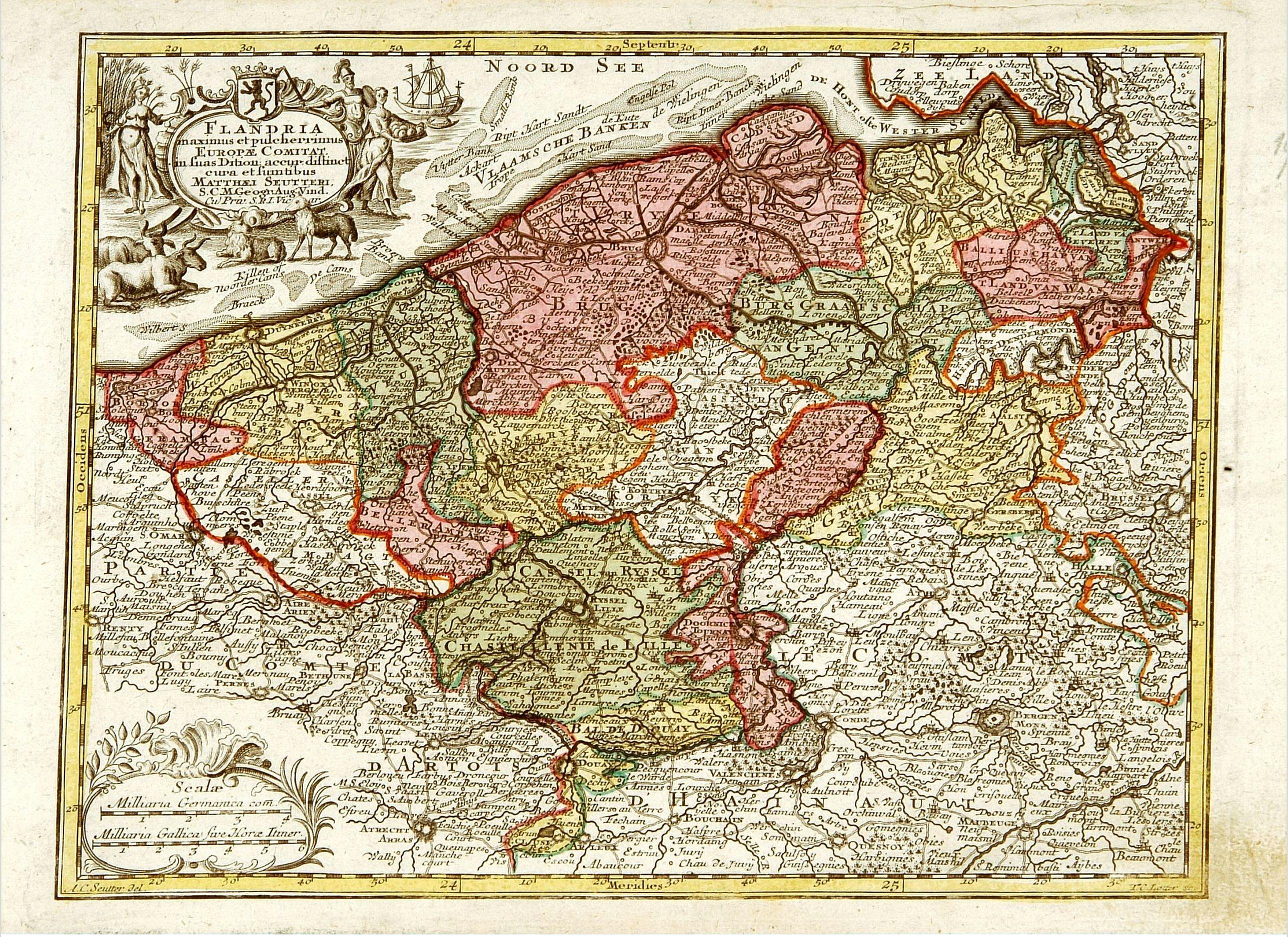 SEUTTER, M. -  Flandria maximus et pulcherrimus. . .