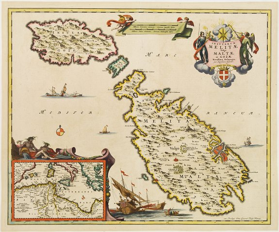 VISSCHER, N. -  Insularum Melitae vulgo Maltae et Gozae. . .
