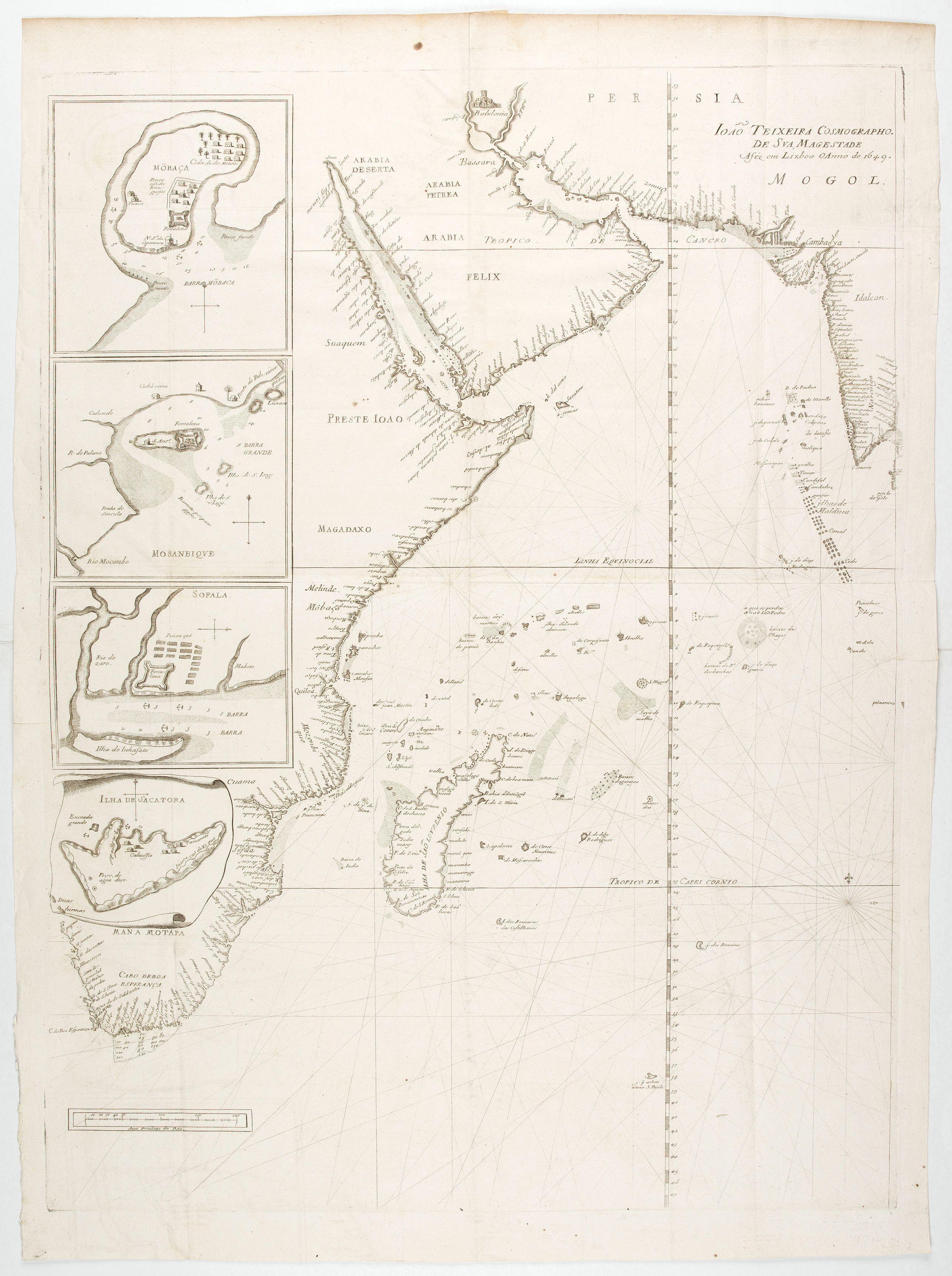 THEVENOT, M. / TEIXEIRA, J. -  [East coast of Africa, Arabia and west coast of India.]