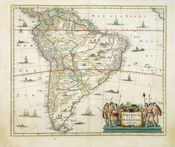 JANSSONIUS, J. -  Americae pars meridionalis.