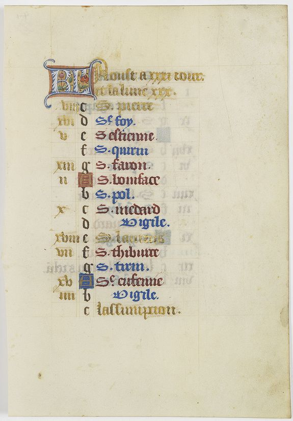 ANONYMOUS -  The calender-leaf of the month of August.
