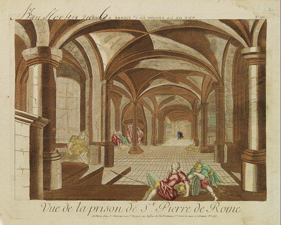 CHEREAU, J. -  Vue de la prison de St.Pierre de Rome.