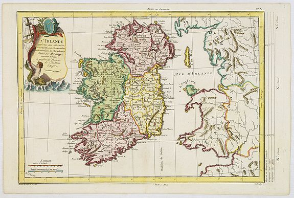 MOITHEY, M.A.,  L'Irlande. . ., antique map, old maps