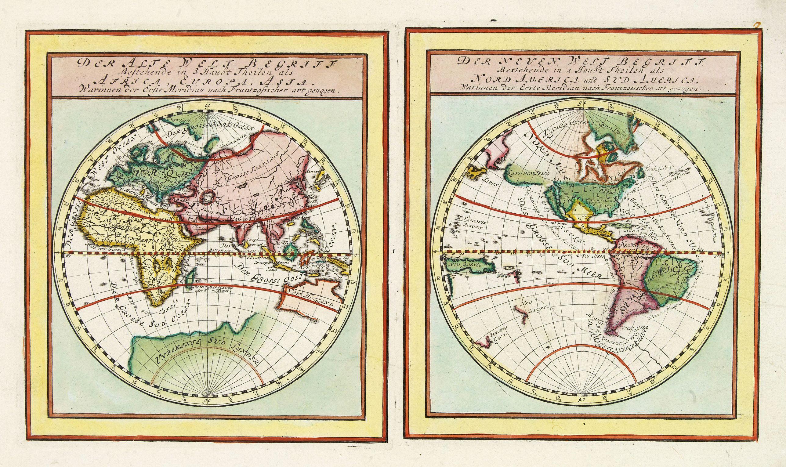 BODENEHR,G. -  Der Neuen Welt .. Nord America und Sud America..