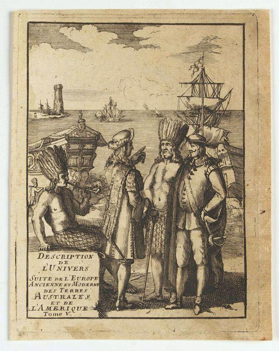 MANSON MALLET, A. -  (title page) Description de L'Univers suite de L'Europe ancienne et moderne des terres Australes et de L'Amerique Tome V.