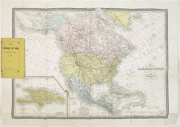 BÉRTHE, L. -  Carte de L'Amérique du Nord. . .