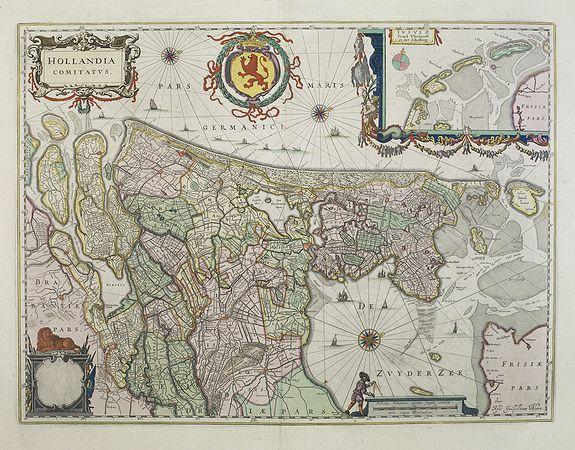 BLAEU, W. -  Hollandia Comitatus.