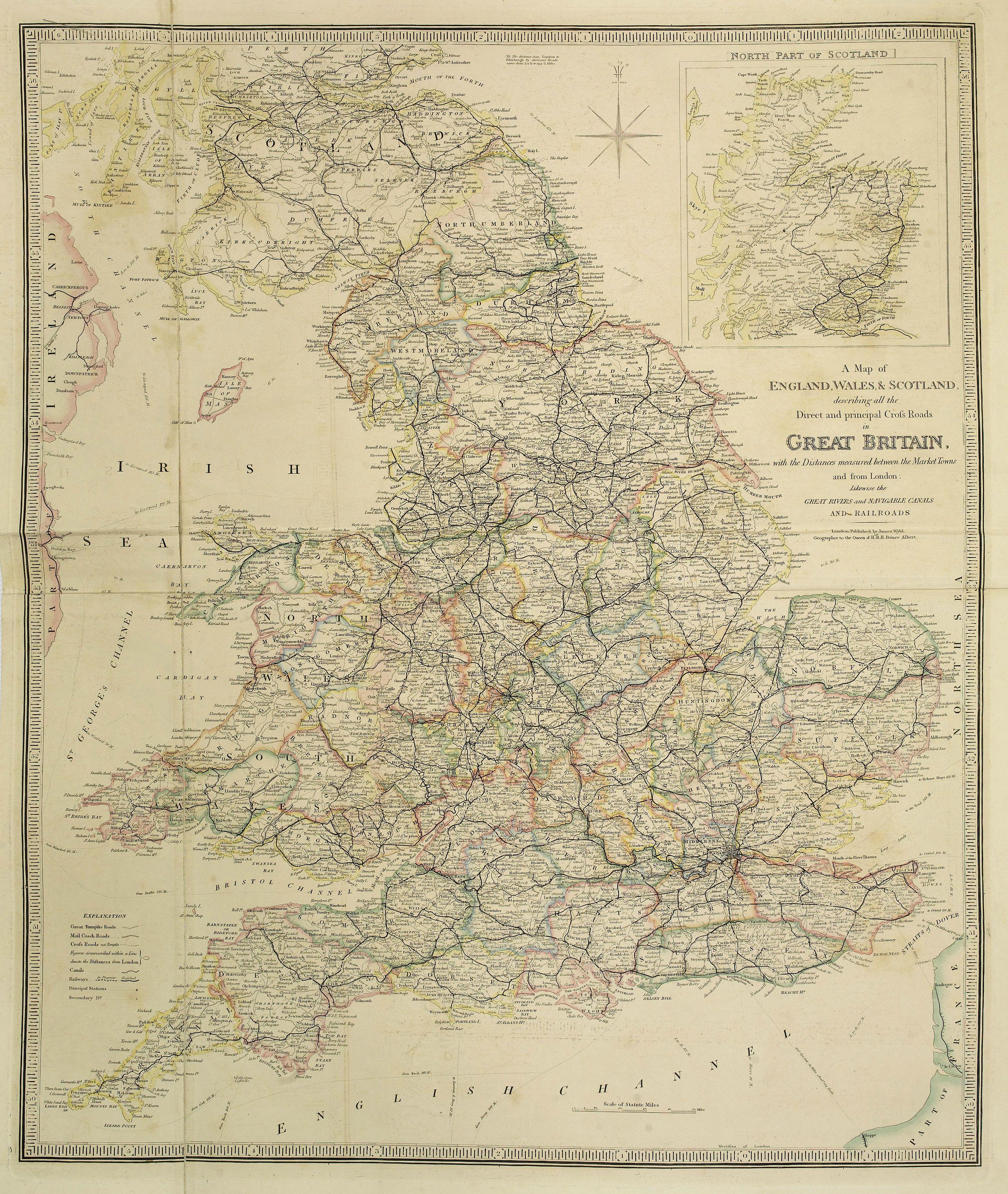 WYLD, J. -  A Map of England, Wales & Scotland..