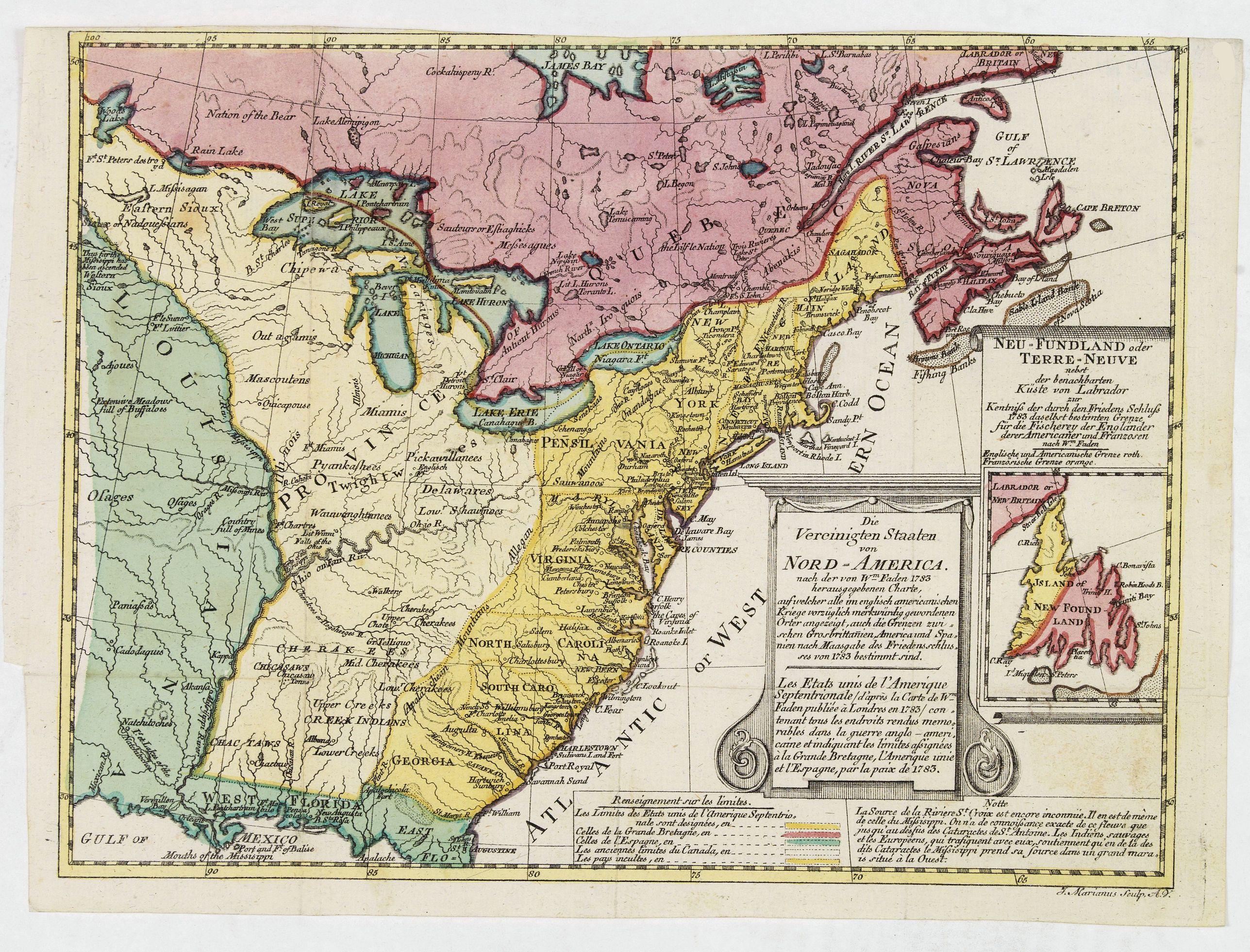 MARIANUS, J. -  Die Vereinigten Staaten von Nord Amerika..