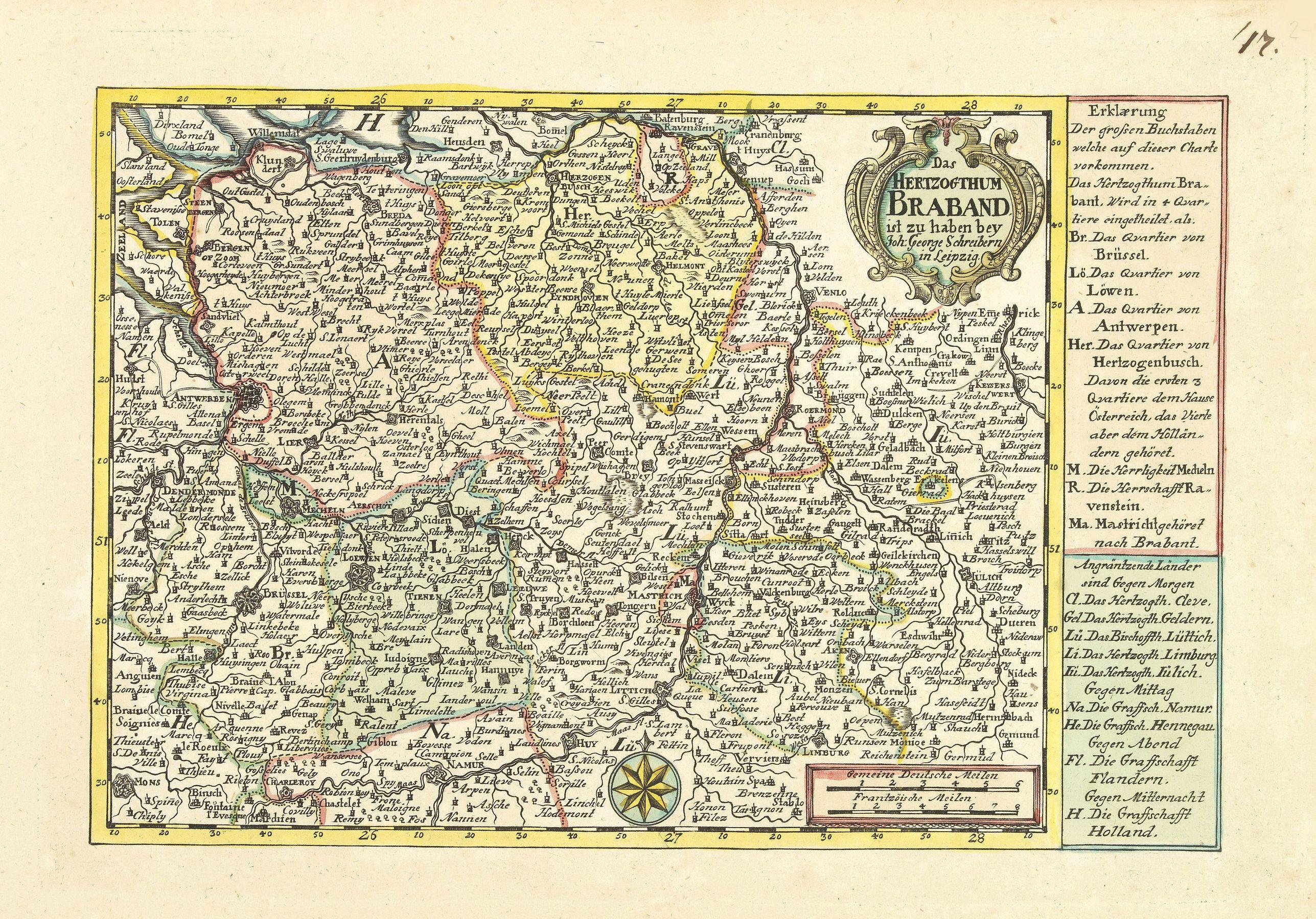 SCHREIBER, J.G. -  Das Hertzogthum Braband. . .