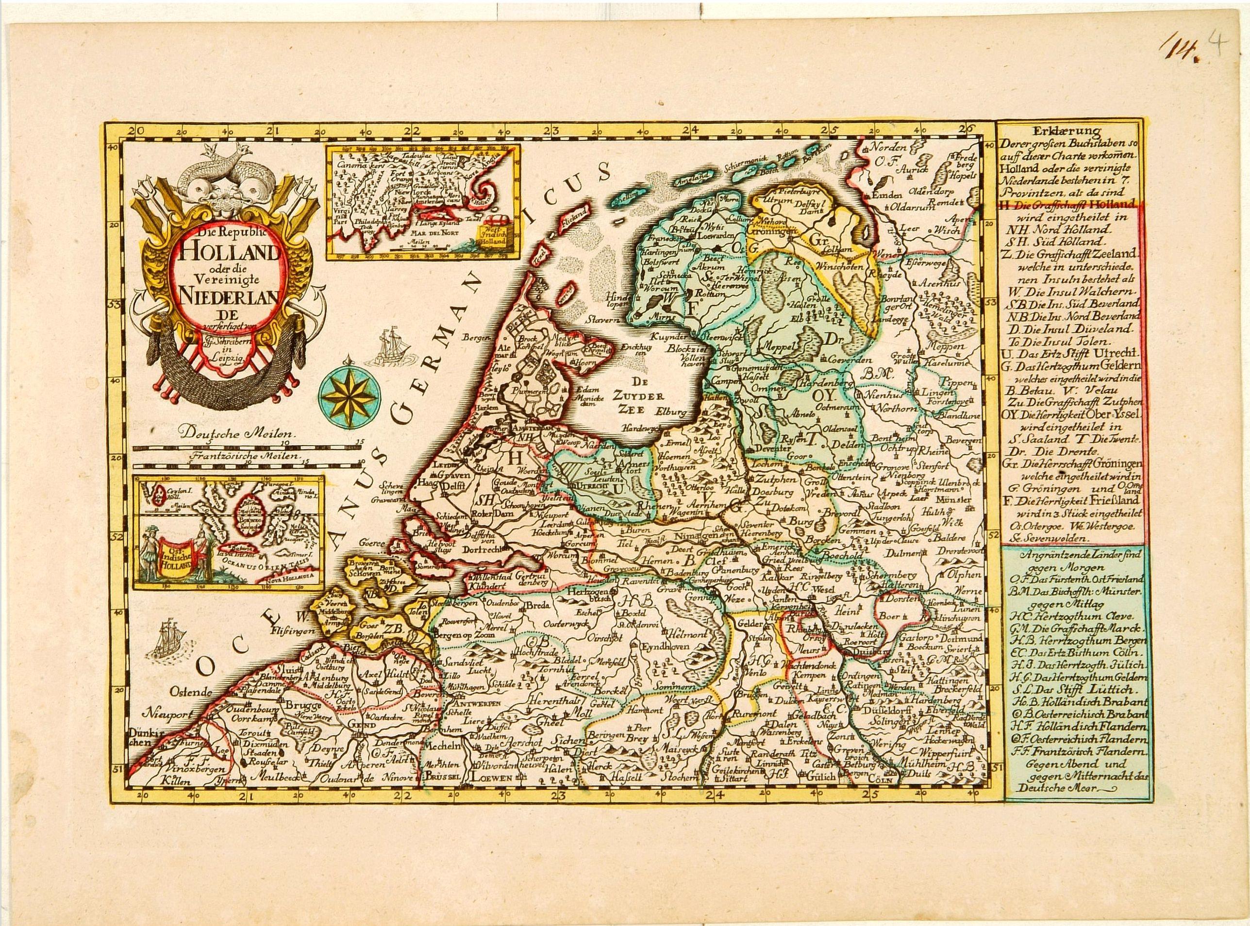 SCHREIBER, J.G. -  Die Republic Holland oder die Verenigte Niederlande..