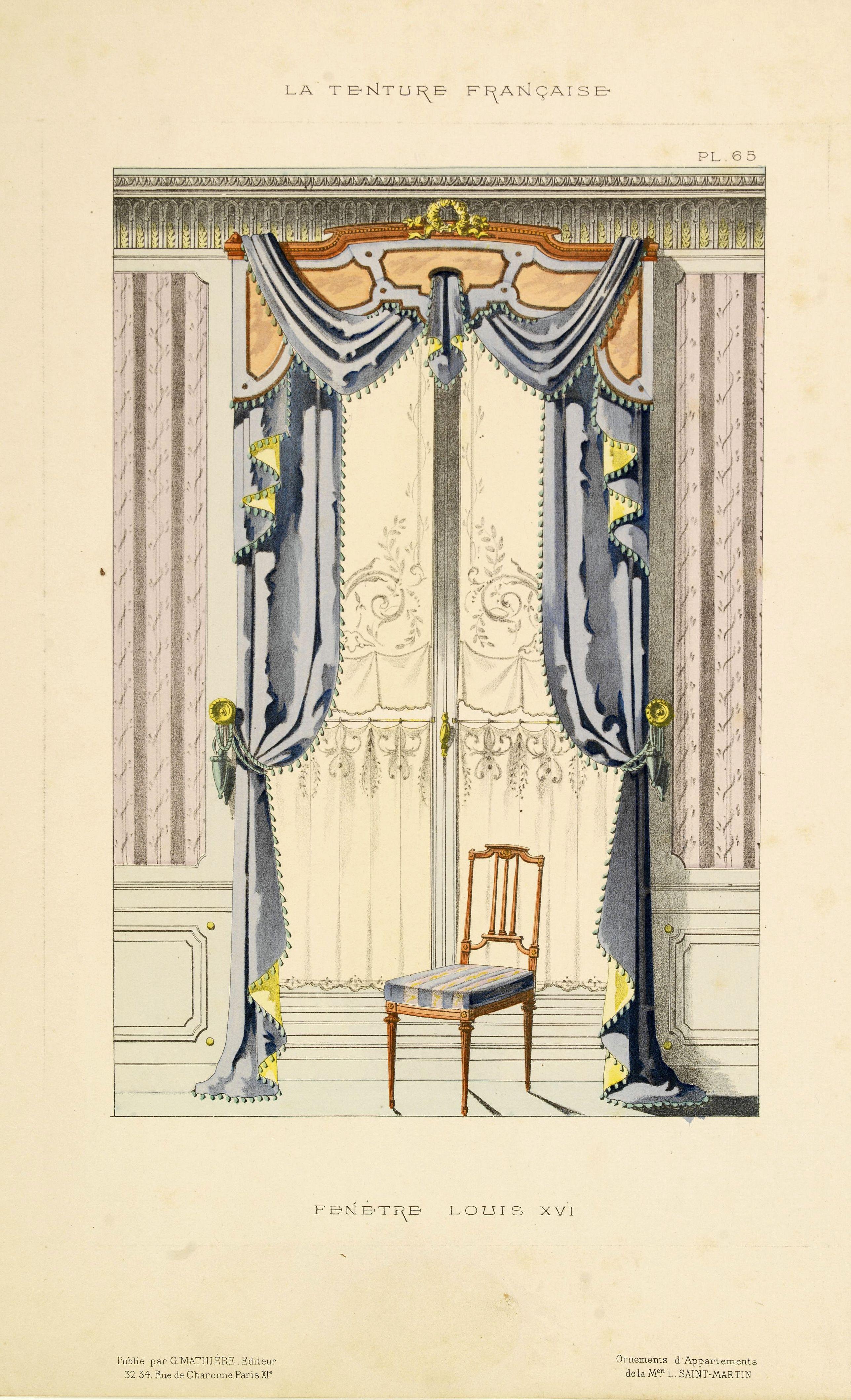 MATHIÉRE, G. -  Fenètre de Salon Louis XVI. . .