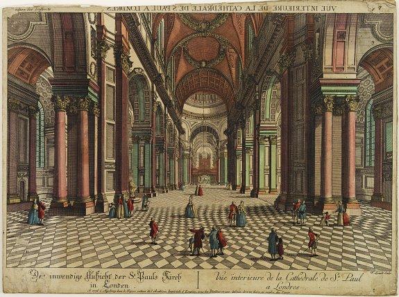 ACADEMIE -  Vue interiere de la Cathedrale de St.Paul a Londres.