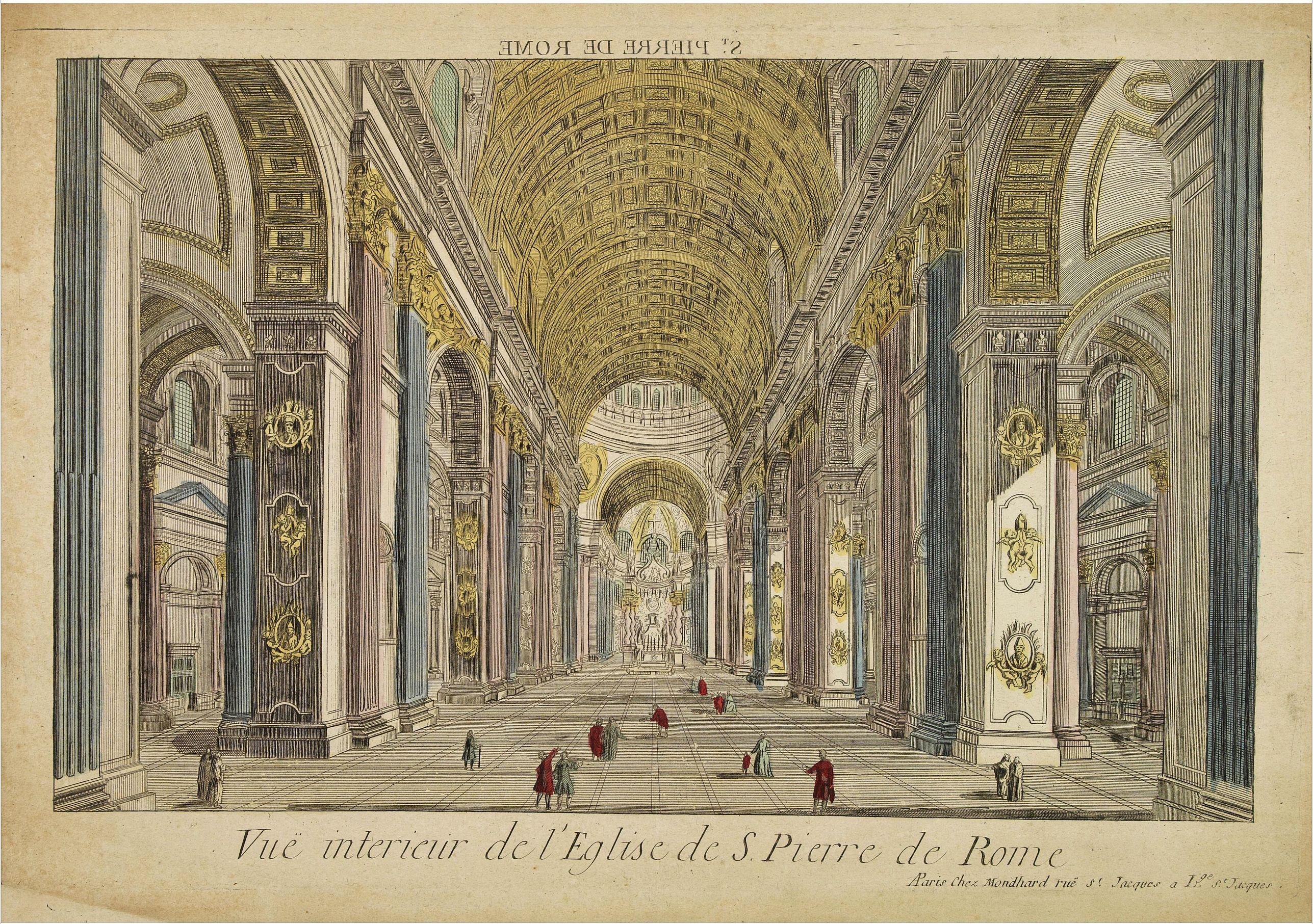 MONDHARE -  Vue interieur de l'Eglise de S.Pierre de Rome.