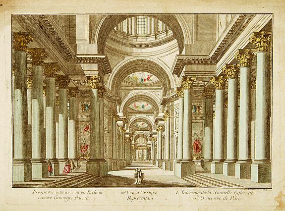 DAUMONT -  L'Interieur de la Nouvelle Eglise de St.Genevieve de Paris.