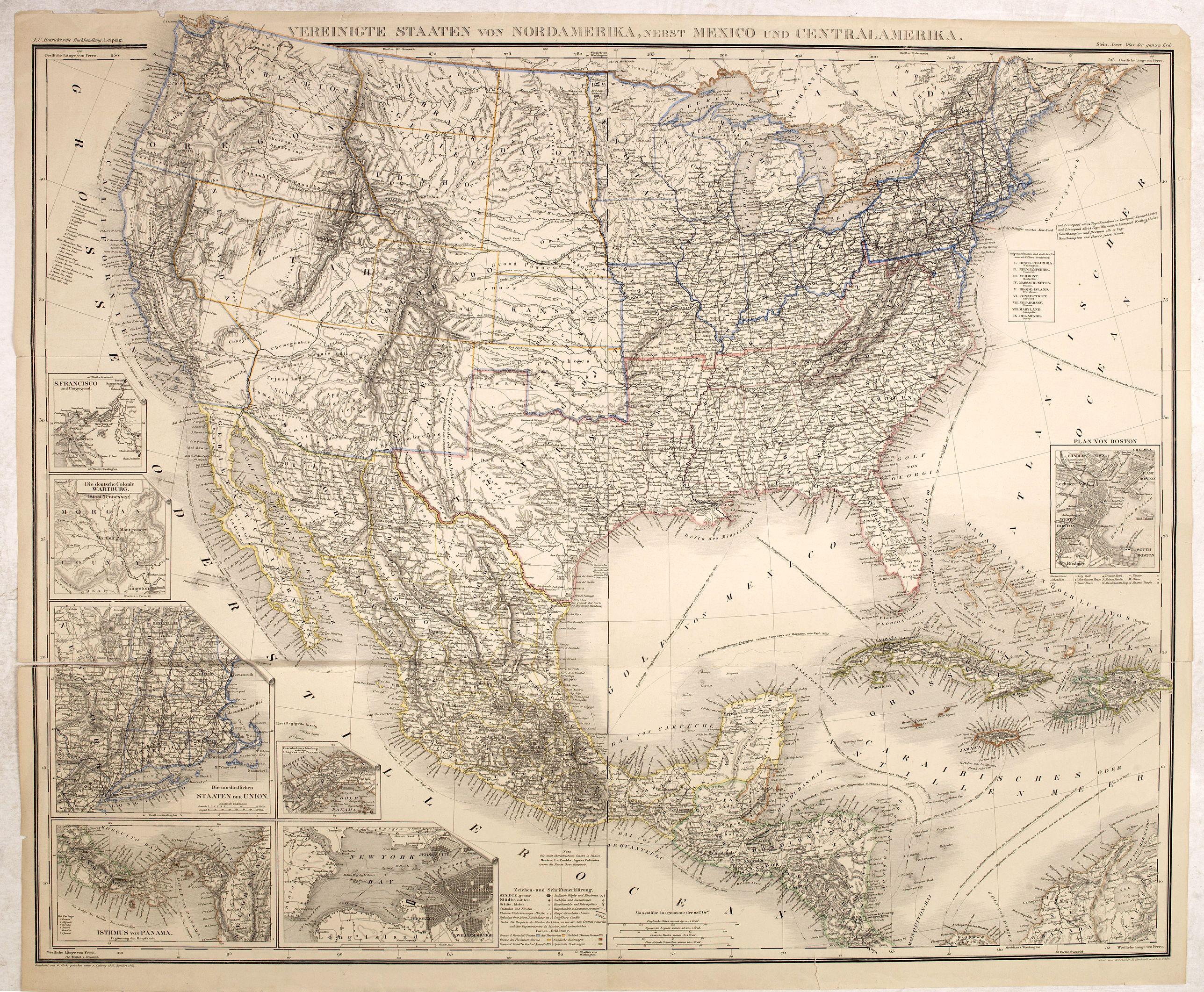 STEIN -  Vereinigte Staaten von Nord Amerika, nebst Mexico..