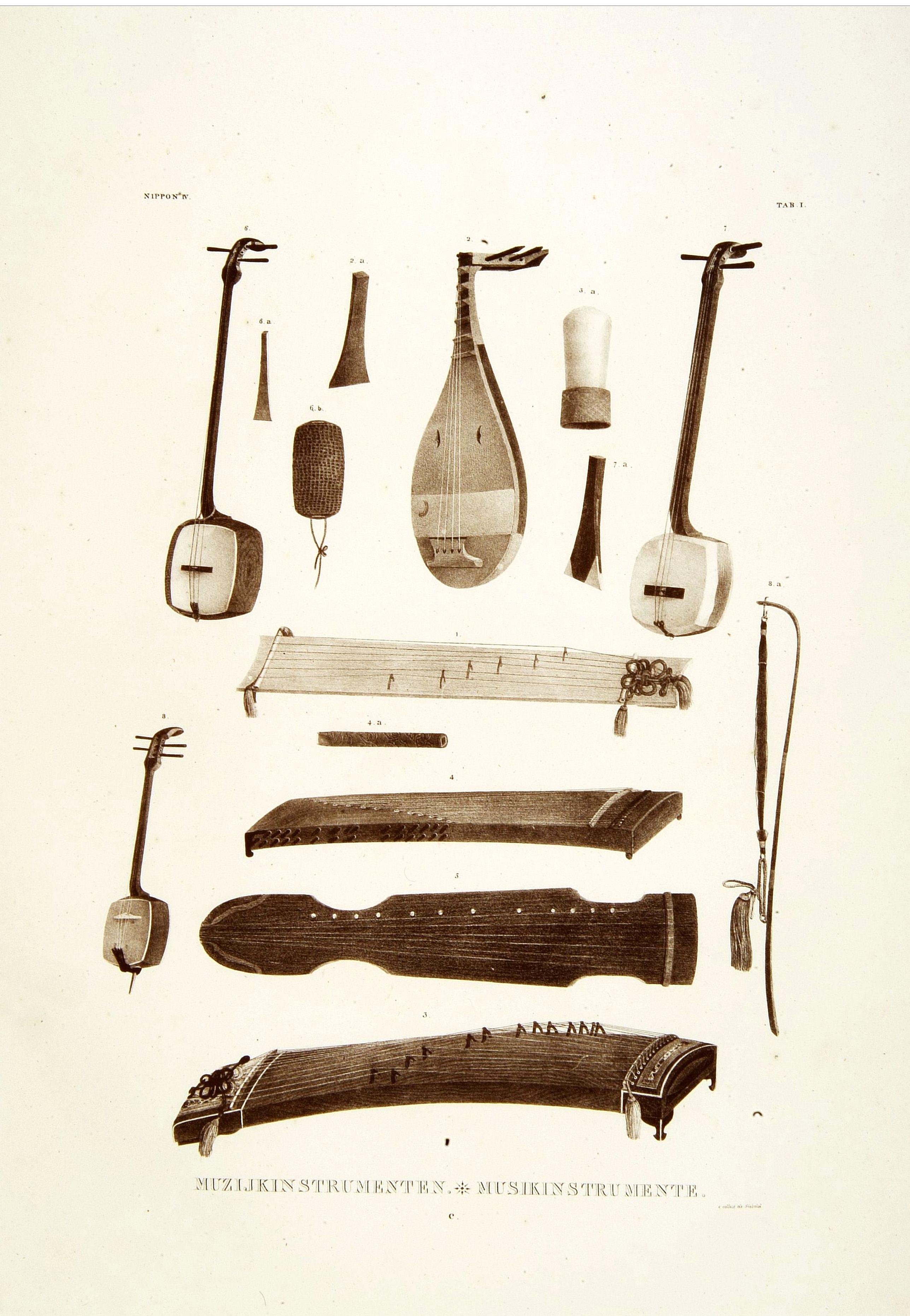VON SIEBOLD, P.Fr.B. -  Muzijkinstrumenten.