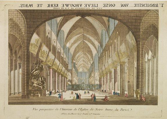 MONDHARE -  Vue perspective de l'Interieur de l'Eglise de Notre Dame. . .