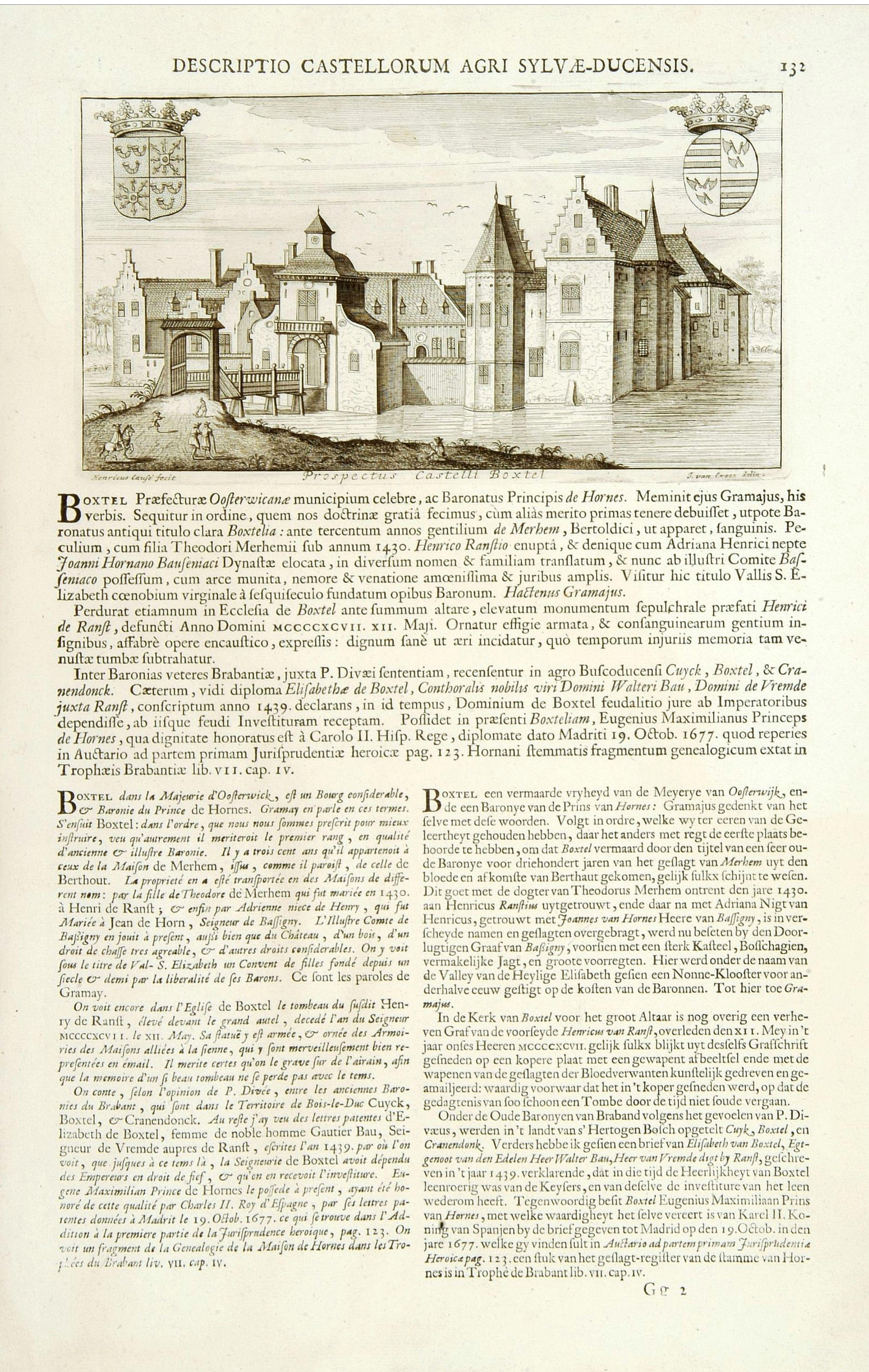 LE ROY, J. -  Prospectus Castelli Boxtel.