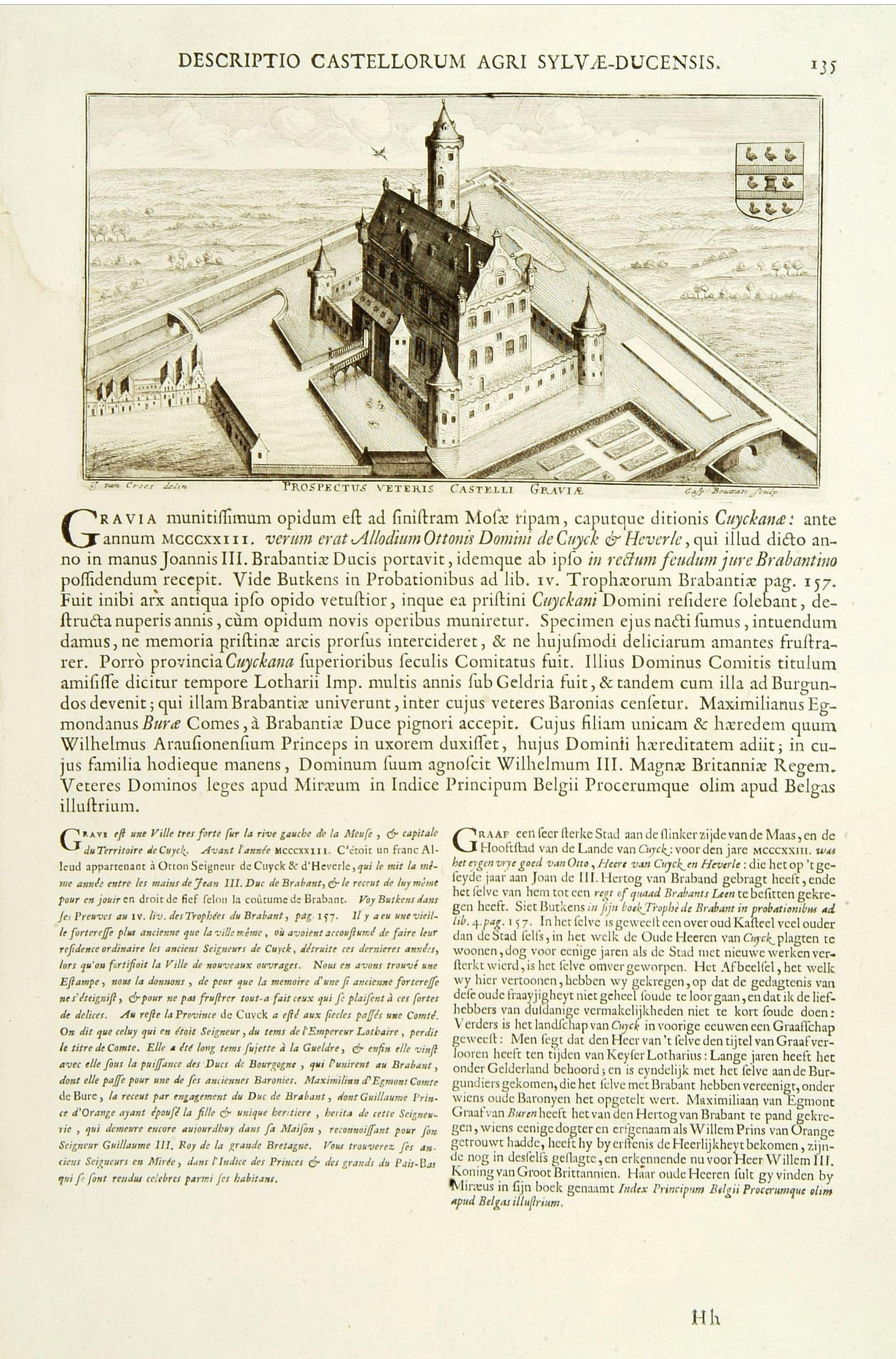 LE ROY, J. -  Prospectus veteris castelli Graviae.