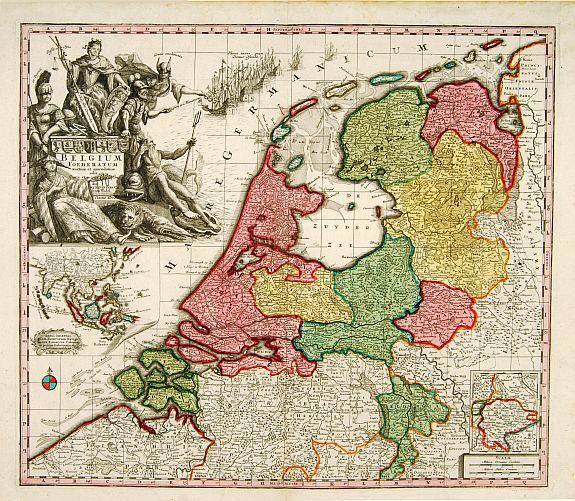 SEUTTER, M. -  Belgium Foederatum auctius et emendatius edit..