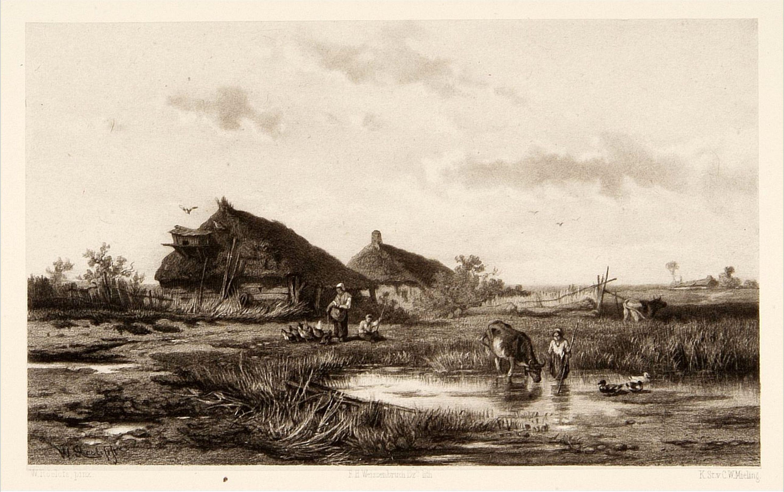 WEISSENBRUCH, F.H. -  Dutch landscape.