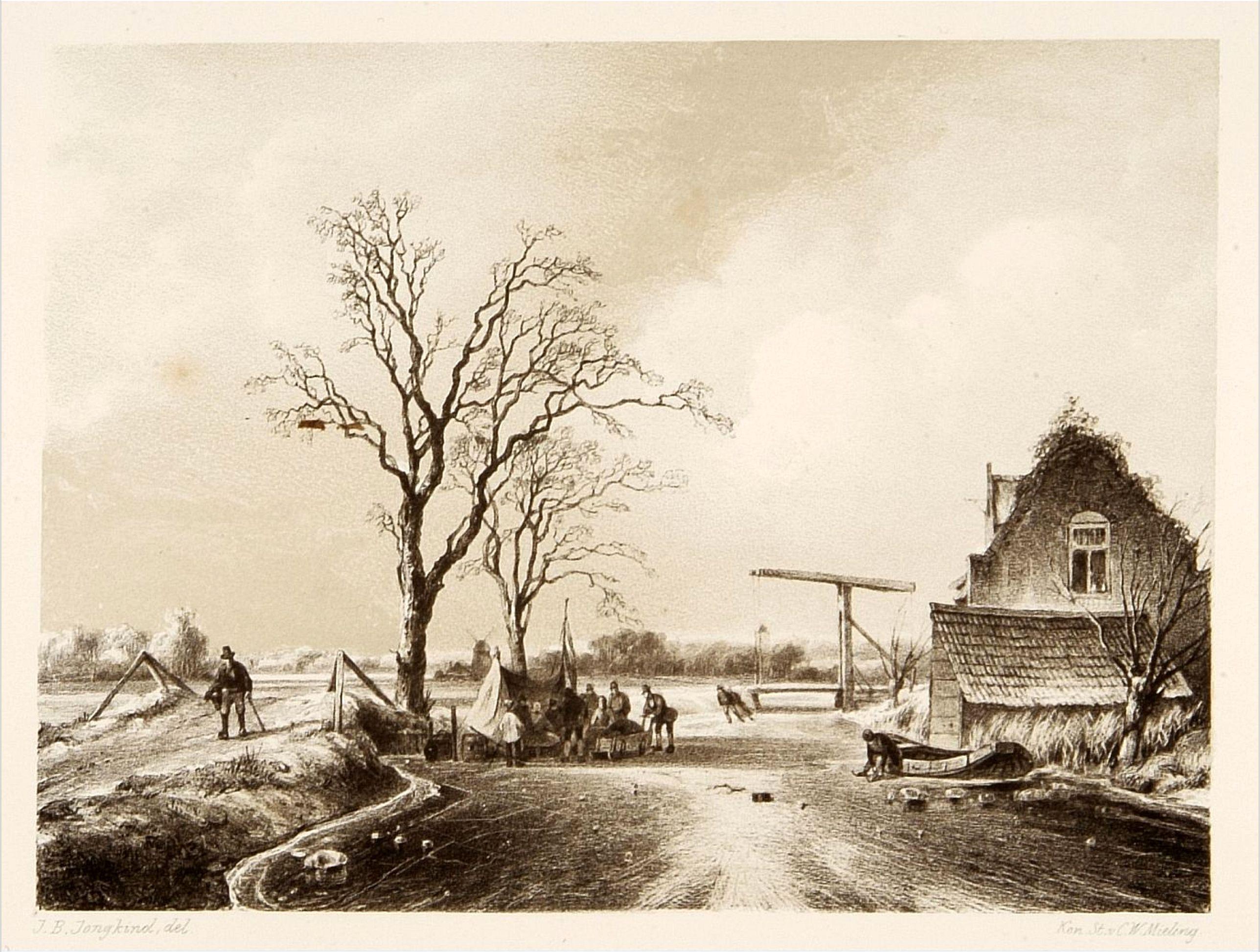 MIELING, C.W. -  Dutch ice-scene.