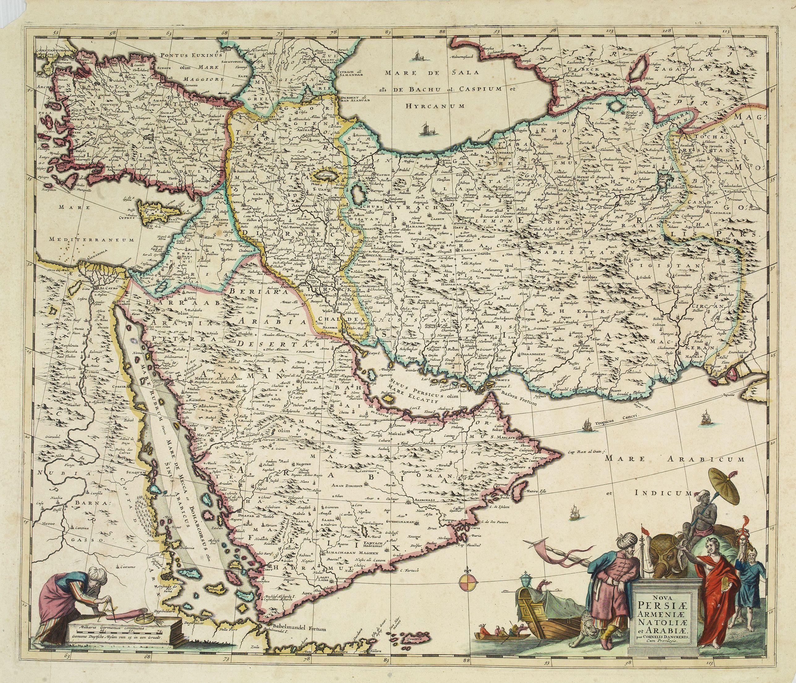 DANCKERTS, C. -  Nova Persiae Armeniae Natoliae et Arabiae.