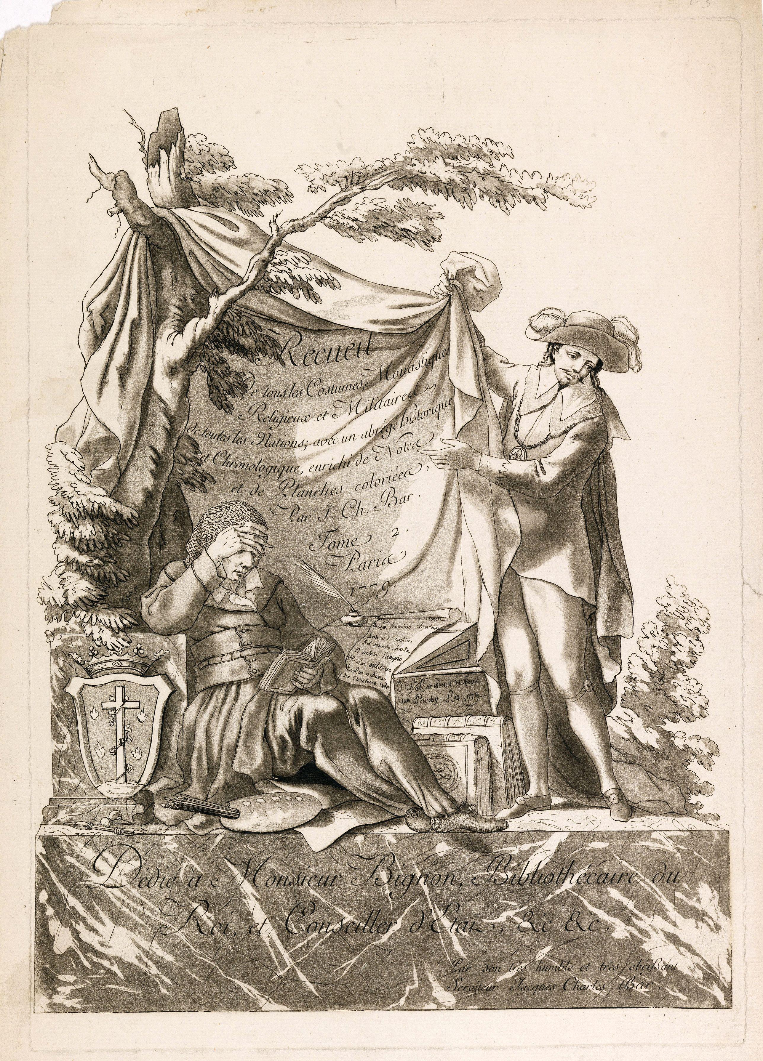 BAR,J. Ch. -  Recueil de tous les Costumes.. (Title page)