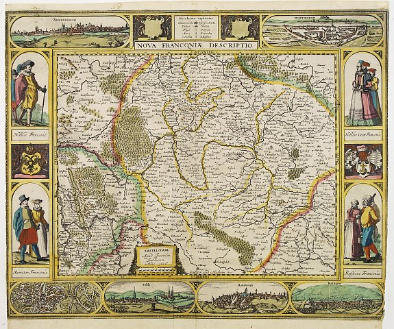 JANSSONIUS, J. -  Nova Franconiae Descriptio.
