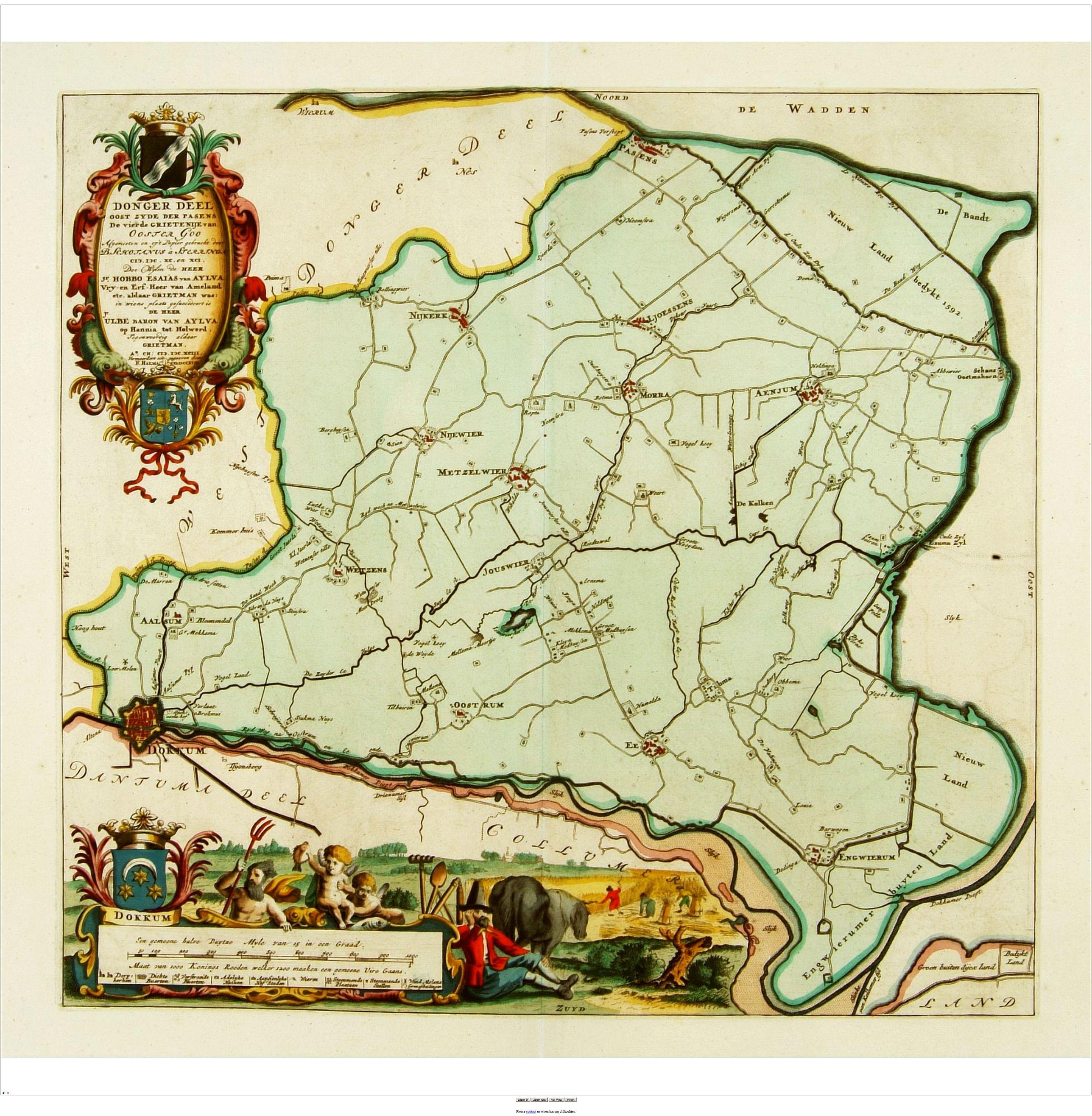 SCHOTANUS, B. -  Dongerdeel.. De vierde grietenij van Ooster Goo.