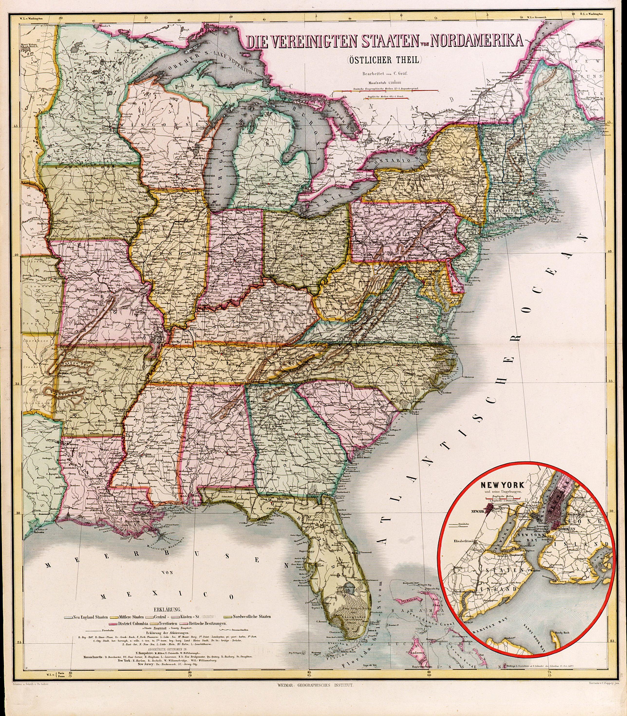 GRÄF, C. -  Die Vereinigten Staten von Nordamerika (Ostlicher theil).