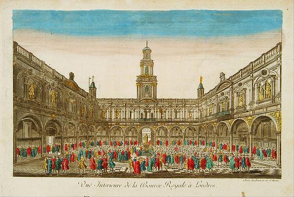 DAUMONT -  Vue Interieure de la Bourse Royale à Londres.