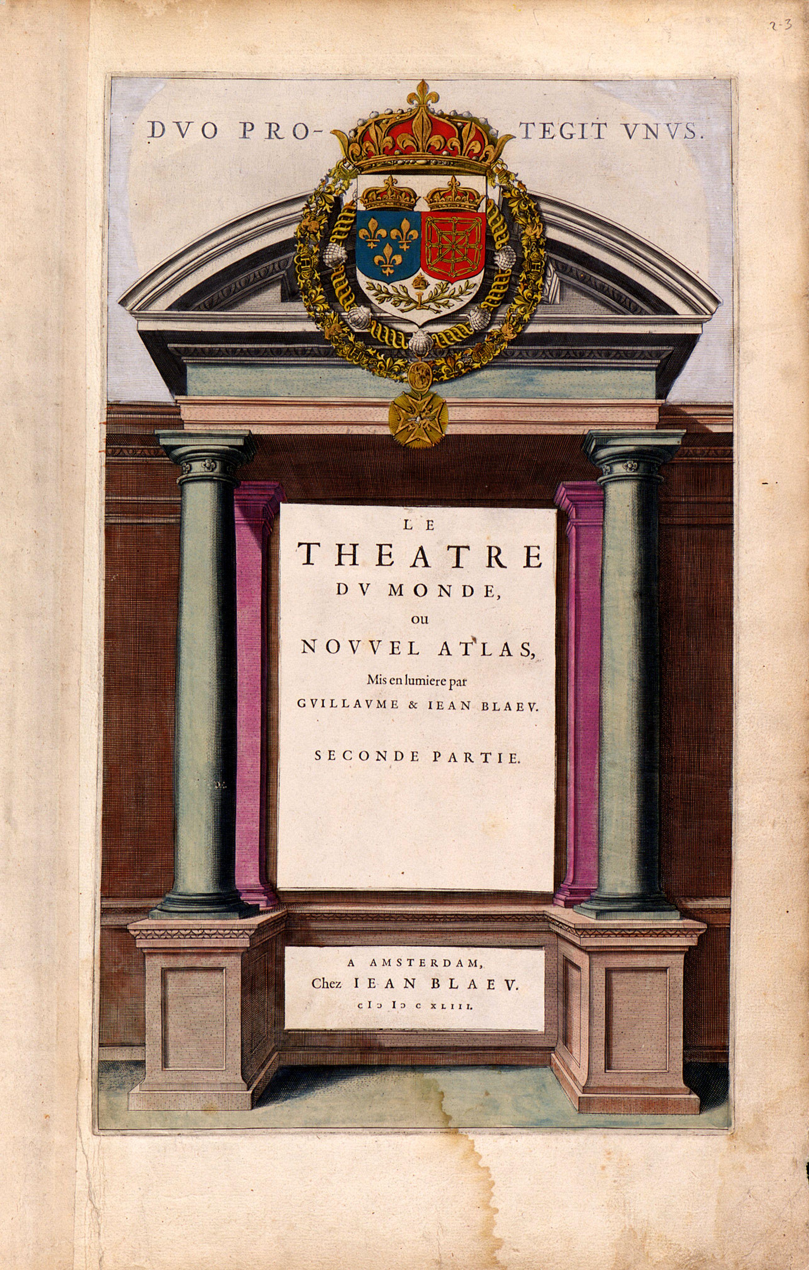 BLAEU, J. / C. -  Title page from: Le Theatre du Monde ou Nouvel Atlas.