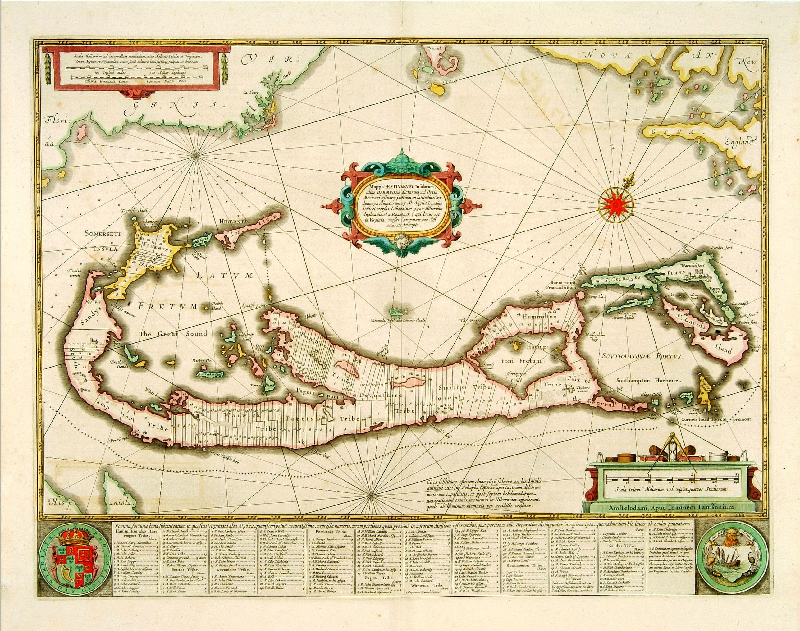 JANSSONIUS, J. -  Mappa Aestivarum Insularum, alias Barmudas. . .