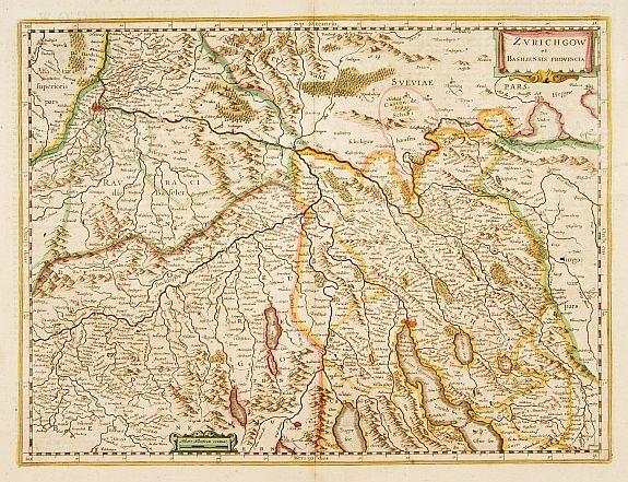 HONDIUS, H. -  Zurichgow et Basiliensis provincia.
