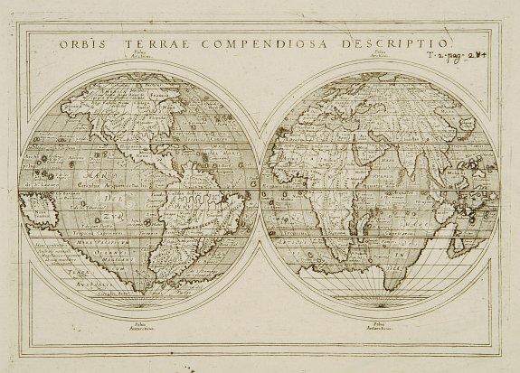 ROSACCIO / SESSA heirs. -  Orbis Terrae compendiosa descriptio.