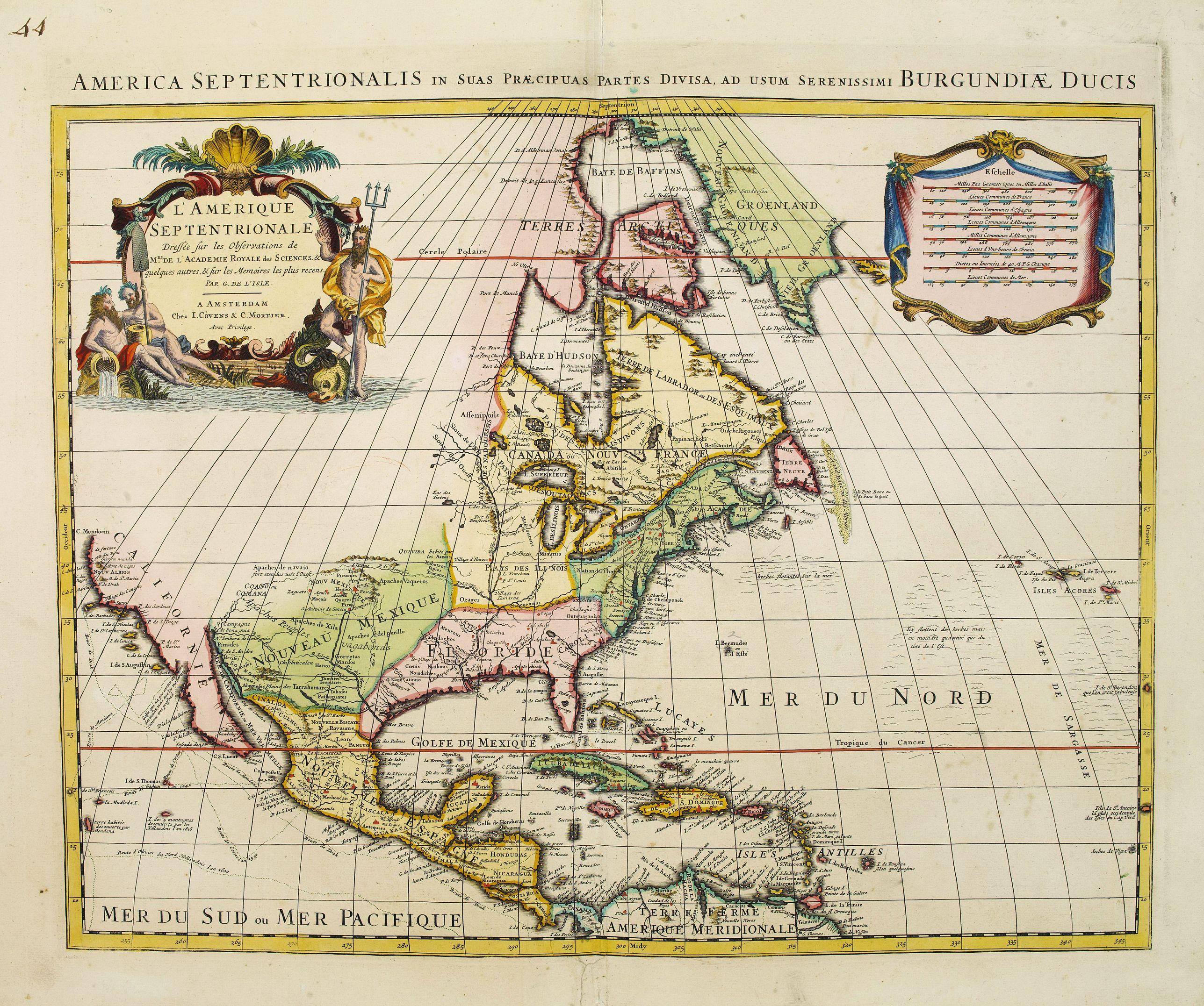 COVENS, J. & MORTIER, P. -  L'Amerique septentrionale, Dressée sur les memoires les plus recens. . .
