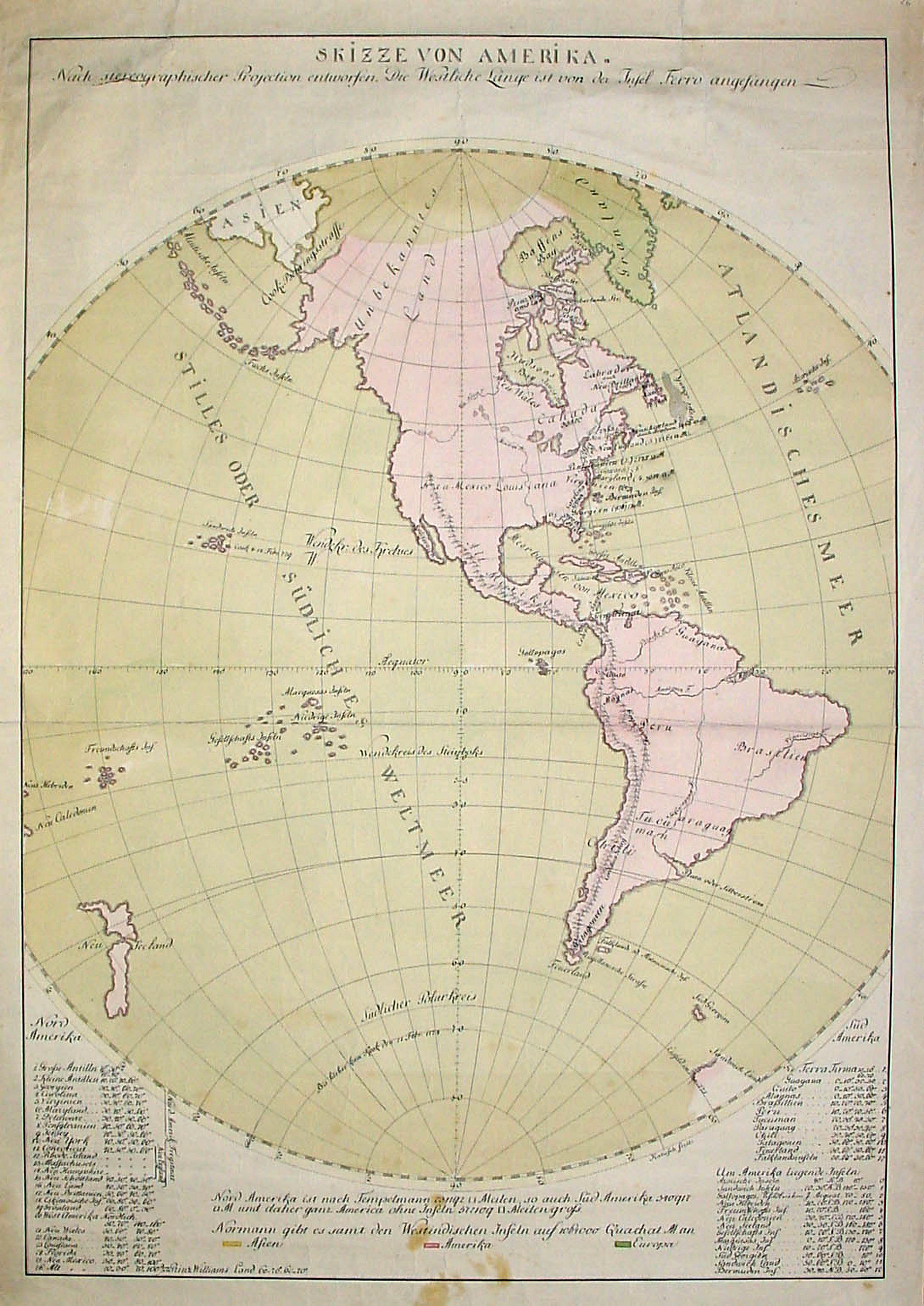KATUSCH -  Skizze von Amerika. (Manuscript)