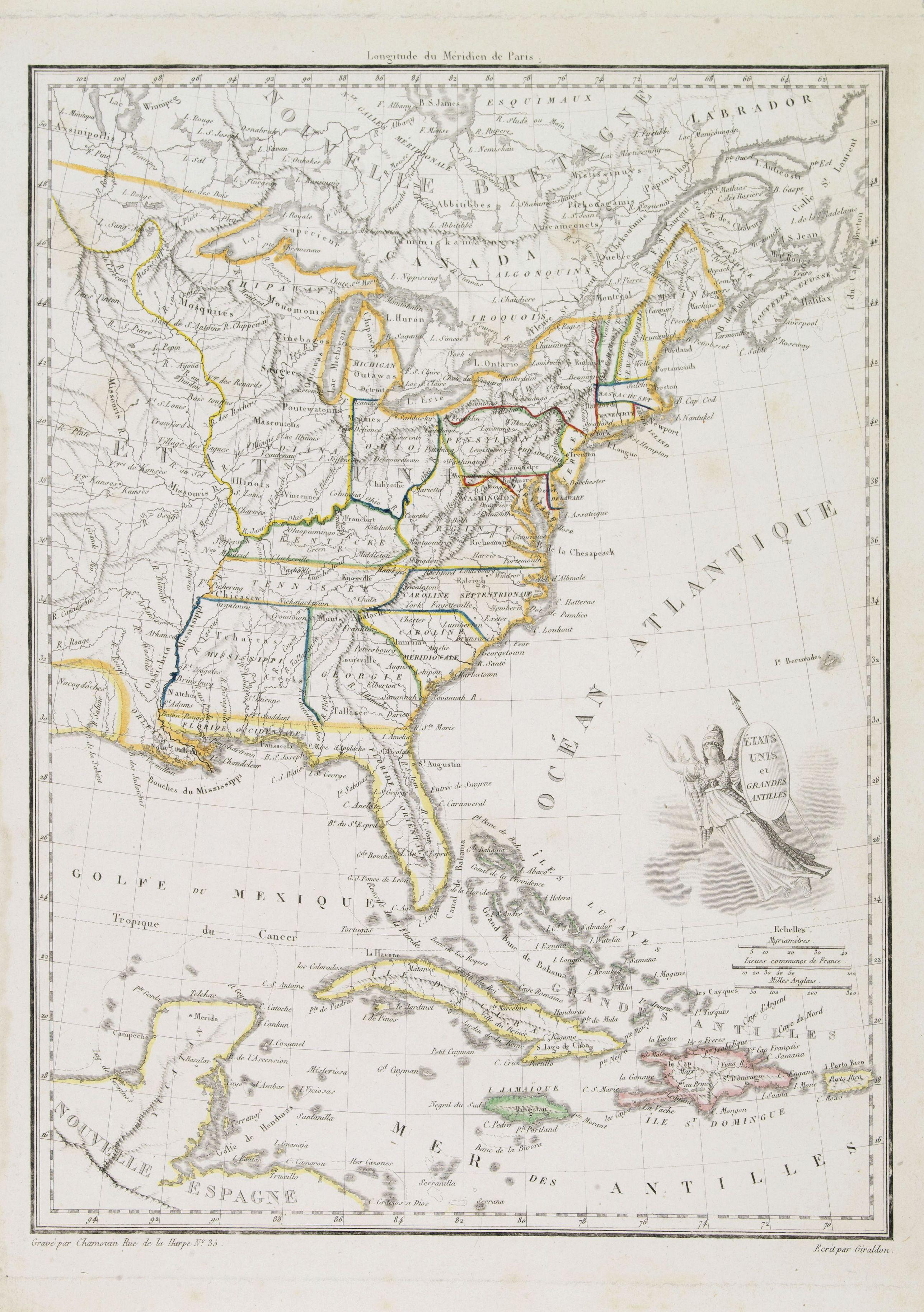 CHAMOUIN - États Unis et Grandes Antilles.